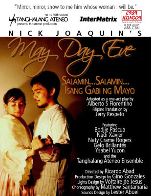 may day eve by nick joaquin The conflict in the story entitled may day eve by nick joaquin waswhen the protagonist, don badoy montoya, heard from his grandsonthat his wife, dona agueda,.