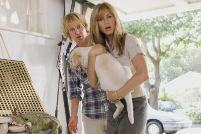 Owen and Jen in Marley and Me